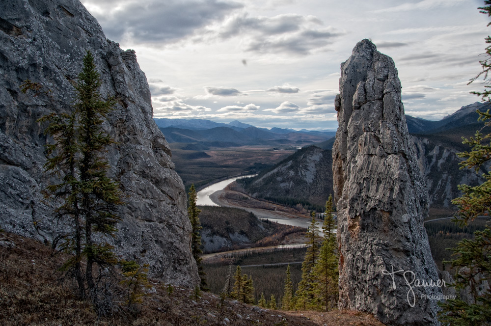 Dempster Highway, Yukon Territory, Engineer Creek, karst