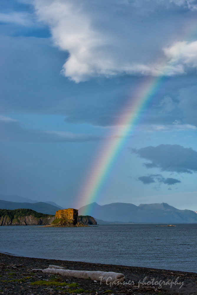 Hallo Bay, Katmai National Park, Alaska, rainbow