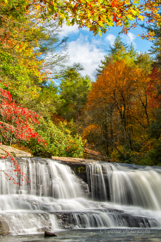 North Carolina, Brevard, Connestee Falls, autumn, foliage, waterfall, Dupont State Forest, Hooker Falls, North Carolina Autumn