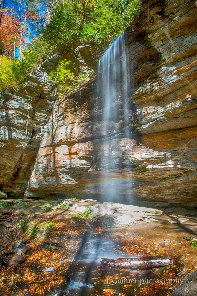North Carolina, Brevard, Pisgah, autumn, foliage, waterfall, Moore Cove, North Carolina Autumn