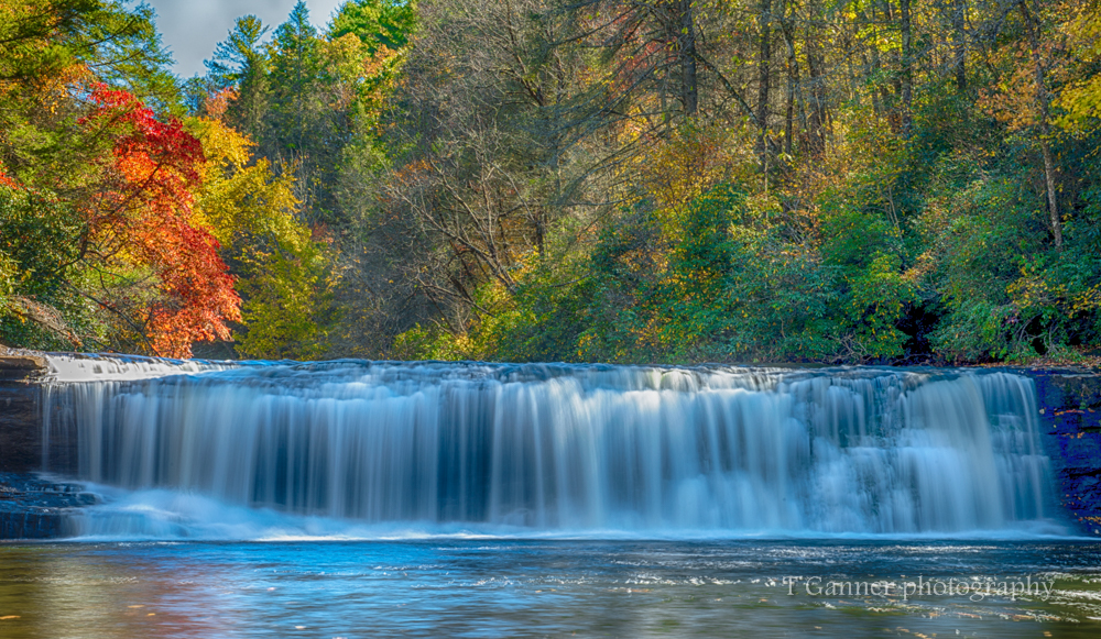 North Carolina, Brevard, Dupont State Forest, autumn, foliage, waterfall, Hooker Falls, North Carolina Autumn