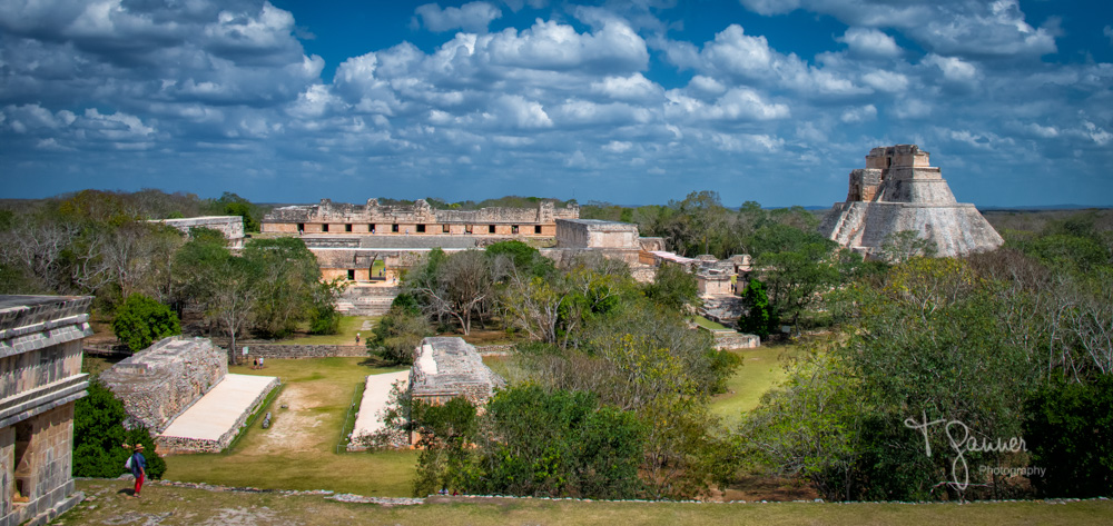 Uxmal, Maya, Mayan, Mayan culture, Yucatan, Mayan ruins, Temple of the Magician, ballcourt, the Nunnery